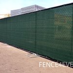 8×50-8ft-Tall-3rd-Gen-Olive-Green-Fence-Privacy-Screen-Windscreen-Shade-Cover-Mesh-Fabric-Aluminum-Grommets-Home-Court-or-Construction-0-0
