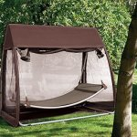 Abba-Patio-Outdoor-Canopy-Cover-Hanging-Swing-Hammock-with-Mosquito-Net-76x45x67-Ft-Chocolate-0-0