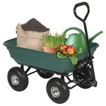 Best-Choice-Products-650LB-Garden-Dump-Cart-Wheelbarrel-Wagon-Carrier-Air-Tires-Heavy-Duty-0-0