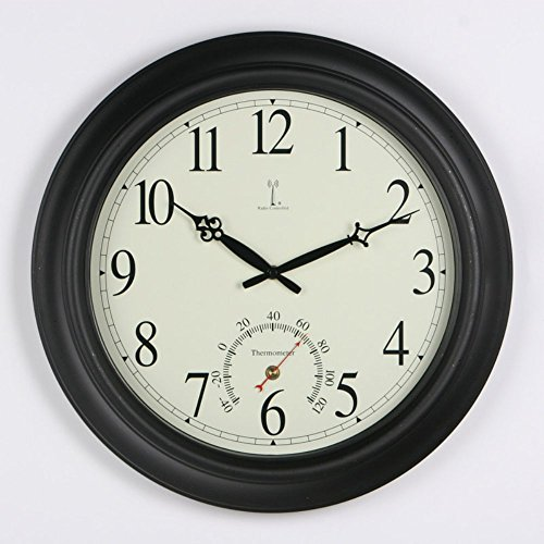 chaney balmoral atomix black 18 in wall clock