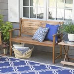 Contemporary-4-ft-Horizontal-Slat-Back-Outdoor-Garden-Bench-Made-Of-Premium-Acacia-Wood-With-Slightly-Curved-Arms-In-Natural-Acacia-Wood-Finish-600-pounds-weight-capacity-Assembly-Required-0-0