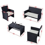 Goplus-4-PC-Rattan-Patio-Furniture-Set-Black-Wicker-Garden-Lawn-Sofa-Cushioned-Seat-0-1