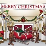 Huge-Santas-Reindeer-Barn-Outdoor-Christmas-Holiday-Garage-Door-Dcor-7×16-0-0