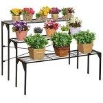 Large-Modern-Black-Metal-3-Tier-Shelf-Flower-Plant-Display-Stand-Rack-Freestanding-Home-Decor-Shelves-0