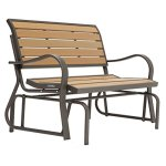 Lifetime-Products-Wood-Grain-Outdoor-Glider-Loveseat-0