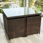 Merax-9-Pc-Modern-IndoorOutdoor-All-Weather-PE-Wicker-Rattan-Table-Patio-Set-Gardern-Furniture-Dining-Sets-0-1