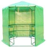 Outsunny-Portable-3-Tier-Shelf-Hexagonal-Walk-In-Greenhouse-75-Feet-0