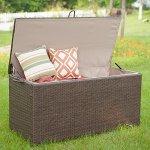 PatioPost-Freeport-PE-Wicker-Outdoor-Storage-Patio-Container-Deck-Box-Brown-0-0