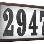 Qualarc-SRST-AB60-LED-BRZ-Serrano-Low-Voltage-Rust-Free-Galvanized-Steel-Rectangular-LED-Lighted-Address-Plaque-with-4-Polymer-Numbers-Bronze-0