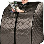 Sauna-Portable-Infrared-FAR-Carbon-Fiber-Panels-Wired-Remote-Control-Max-Heat-150-Degrees-Heated-Foot-Pad-Negative-Ion-Generation-Rejuvenator-Model-SA6310-bw-0