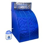 WYZworks-Portable-Therapeutic-Personal-Steam-Sauna-Spa-Room-2L-Water-Capacity-with-Headcover-and-Herb-Box-0-0