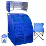 WYZworks-Portable-Therapeutic-Personal-Steam-Sauna-Spa-Room-2L-Water-Capacity-with-Headcover-and-Herb-Box-0