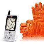 Wireless-Digital-Meat-Thermometer-Set-with-BONUS-BBQ-Grilling-Gloves-Maverick-ET-733-Long-Range-Dual-Probe-0
