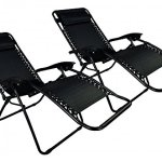 Zero-Gravity-Chairs-Case-Of-2-Black-Lounge-Patio-Chairs-Outdoor-Yard-Beach-O62-0