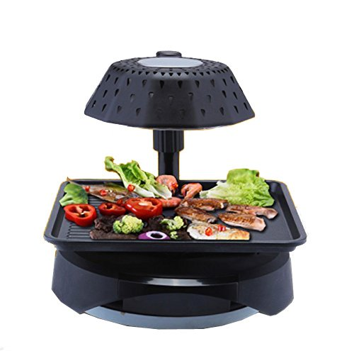 3D smokeless electric grill infrared heat grill for home ... on Indoor Non Electric Heaters id=72665