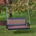 4FT-CEDAR-POLY-LUMBER-Mission-Porch-Swing-Heavy-Duty-EVERLASTING-PolyTuf-HDPE-MADE-IN-USA-AMISH-CRAFTED-0