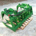 72-Grapple-Bucket-42-Pallet-Fork-Attachment-w-2-Trailer-Hitch-John-Deere-0-0
