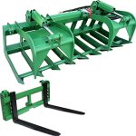 72-Grapple-Bucket-42-Pallet-Fork-Attachment-w-2-Trailer-Hitch-John-Deere-0