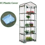 AdvancedShop-69-x-49-x-187cm-Apex-Roof-5-Tiers-Garden-Greenhouse-Hot-Plant-House-Shelf-Shed-Clear-PVC-Cover-by-0-1