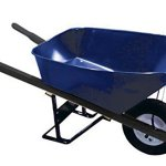 Bon-28-904-Premium-Contractor-Grade-Steel-Single-Wheel-Wheelbarrow-with-Steel-Handle-and-Flat-Free-Tire-6-Cubic-Feet-0