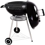 Charcoal-Grill-BBQ-Outdoor-Backyard-Cooking-with-Wheels-Black-225-Inch-0-0