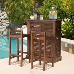 Contemporary-3-piece-Outdoor-Bar-Set-Includes-1-Bar-and-2-Barstools-Constructed-from-Strong-Acacia-Wood-Assembly-Required-Bar-weighs-44-Pounds-Barstool-Weigh-1325-Pounds-Each-Mahogany-Finish-0-2