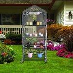 GHP-27x19x63-4-Tier-Steel-Mesh-Shelving-Steel-Frame-PVC-Cover-Portable-Greenhouse-0