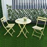 Giantex-3-PC-Folding-Table-Chair-Set-Outdoor-Patio-Garden-Pool-Backyard-Furniture-0-1