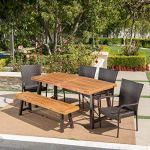 Great-Deal-Furniture-Salla-6-Piece-Outdoor-Acacia-Wood-Dining-Set-with-Wicker-Stacking-Chairs-in-Multibrown-with-Teak-Finish-0-2