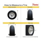 Kunhua-480400-8-inch-Flat-Free-Wheelbarrow-Tire-with-Ribbed-Tread-6-inch-Hub-34-inch-Ball-Bearings-155-inch-Tire-Diameter-0-2
