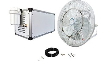 Misting Fan System 24 Inch – With High Pressure Misting Pump 1500
