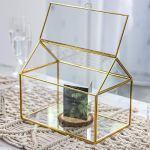NCYP-Large-Inches-Geometric-Glass-Card-Box-Organizer-Terrarium-Centerpiece-Decor-Tabletop-Planter-Handmade-Copper-House-Shape-Window-Flower-Pot-for-Plants-Succulents-102-X-83-X-63–0-2