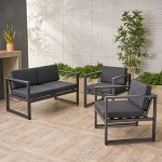 Navan-Outdoor-4-Seater-Aluminum-Chat-Set-Silver-with-Dark-Grey-Cushions-0-0