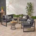 Navan-Outdoor-4-Seater-Aluminum-Chat-Set-Silver-with-Dark-Grey-Cushions-0