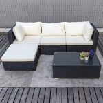 Pamapic-Outdoor-5-Pieces-Patio-Furniture-SetsChaise-Longue-Wicker-Rattan-Conversation-Set-with-Tempered-Glass-Coffee-Table-0-1