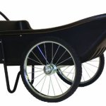 Polar-Trailer-8376-Utility-Cart-60-x-27-x-32-Inch-400-Lbs-Load-Capacity-10-Cubic-Feet-Tub-Spoked-Wheel-Tires-Rugged-Hauling-Design-Black-0