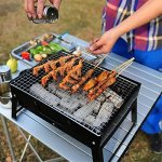 QYU-Folding-Portable-BBQ-Grill-Camping-Lightweight-BBQ-Tools-for-Outdoor-Cooking-Camping-Hiking-Picnics-Tailgating-Backpacking-0-0