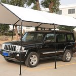 SORARA-Carport-10-x-20-Outdoor-Car-Canopy-Gazebo-8-Steel-Legs-White-0-0