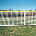 Sportpanel-Fencing-in-White-w-Yellow-Top-Safety-Rail-0