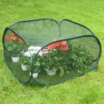 Sundale-Outdoor-Portable-Gardening-Green-House-Mini-Lightweight-Greenhouse-with-Polypropylene-Mesh-Fireproof-Insect-Prevention-394L-x-394W-x-197H-Green-0-0