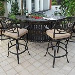 Theworldofpatio-Elizabeth-Cast-Aluminum-Powder-Coated-5pc-Party-Bar-Set-with-Party-Bar-Table-Antique-Bronze-0