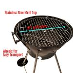 Unique-Imports-BBQ-Charcoal-Kettle-Grill-18-Moving-Wheels-Outdoor-Smoker-Heat-Portable-Backyard-Cooking-Camping-Steak-Backyard-Pit-master-Tailgating-0-1