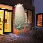 46-LED-Outdoor-Solar-Wall-Light-Motion-Activated-Security-Lighting-Wireless-Exterior-Lantern-Weatherproof-Aluminum-Fixture-Super-Bright-Spotlight-for-Patio-Pool-Yard-Deck-Porch-Silver-2-0-0