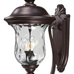 533M-RBRZ-Bronze-Armstrong-2-Light-Outdoor-Wall-Sconce-with-Clear-Water-Glass-Shade-0