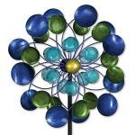 Bits-and-Pieces-63-Multi-Colored-Aurora-Borealis-Wind-Spinner-Reflects-Sunlight-to-Create-Spectacular-Glowing-Effect-Steel-Outdoor-Lawn-and-Garden-Dcor-0