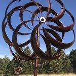 Bronze-Flower-Style-Kinetic-Wind-Garden-Spinner-0-0