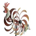 CEDAR-HOME-Wind-Spinner-Twirler-Sculpture-Garden-Stake-Outdoor-Metal-Stick-Art-Ornament-Flaming-Rooster-Figurine-Decor-for-Lawn-Yard-Patio-31-W-x-7-D-x-64-H-0-2