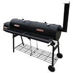 Chloe-Rossetti-Black-Smoker-BBQ-Nevada-XLHandle-bars-material-Wood-Smoker-Fire-compartment-Dimension-1-118-x-118-Diameter-x-L-0