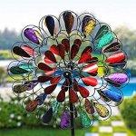 Garden-Art-Metal-Spinner-Bursting-Bloom-Multi-color-0
