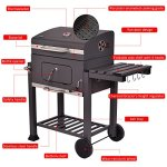 Globe-House-Products-GHP-642-Square-Inch-Cooking-Area-Porcelain-Enameed-Black-Rolling-BBQ-Charcoal-Grill-0-1